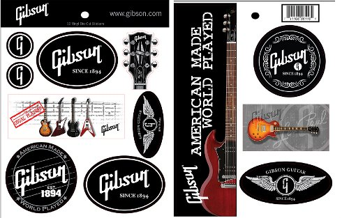 Gibson Stickers Lot d'Autocollants